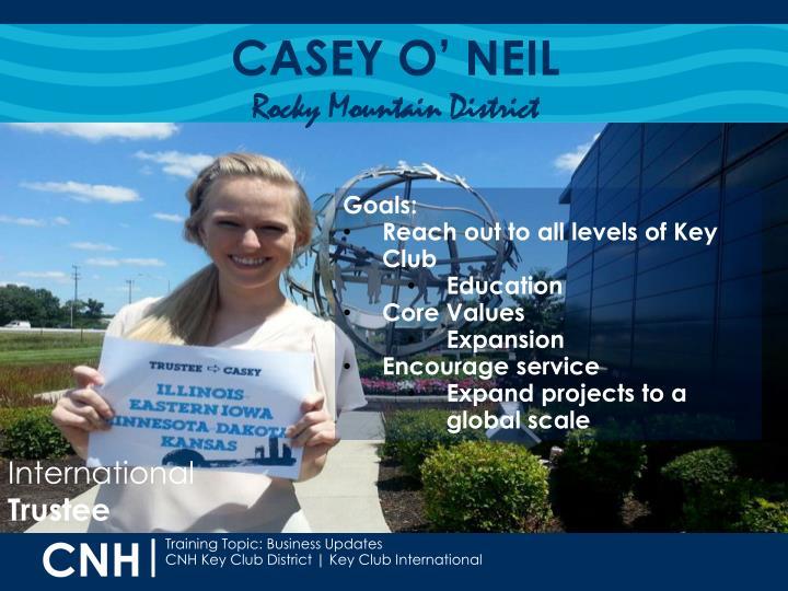 CASEY O' NEIL