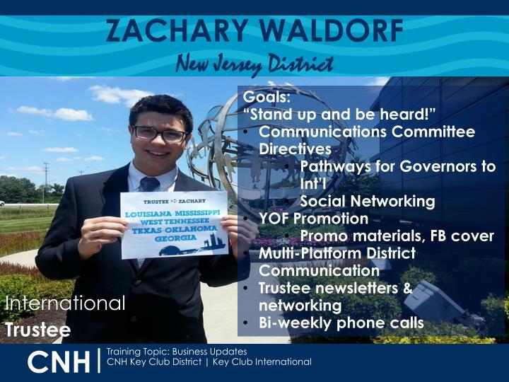 ZACHARY WALDORF