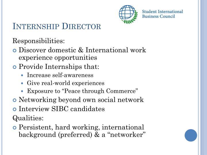 Internship Director