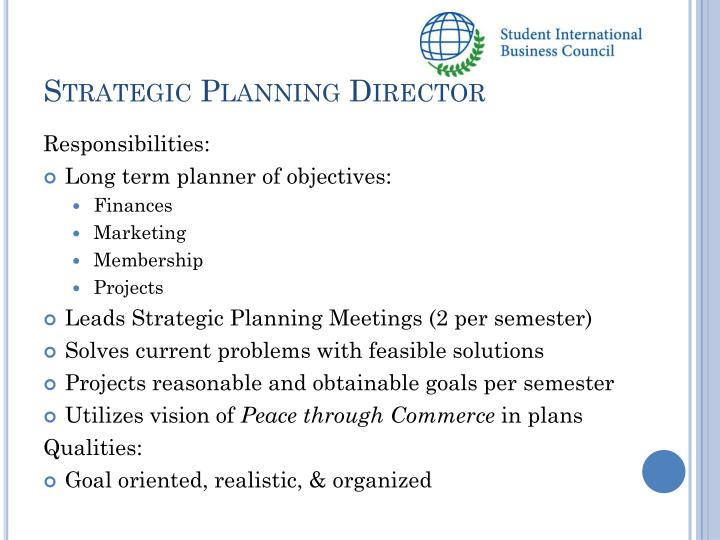 Strategic Planning Director