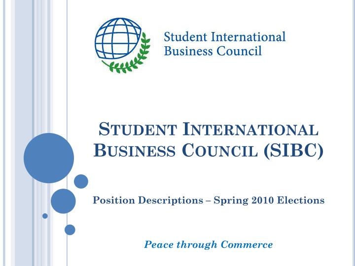 Student international business council sibc