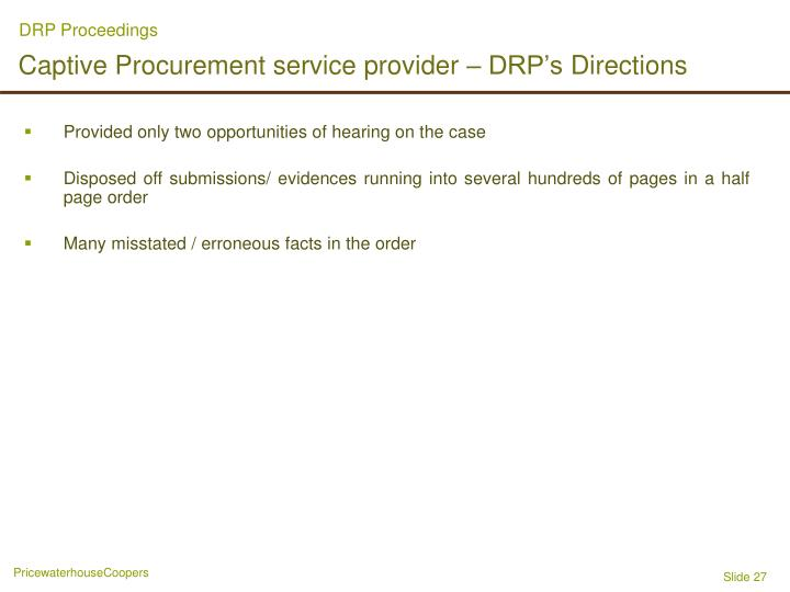 DRP Proceedings