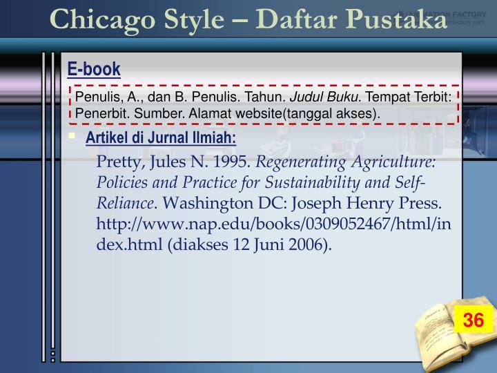 Chicago Style – Daftar Pustaka