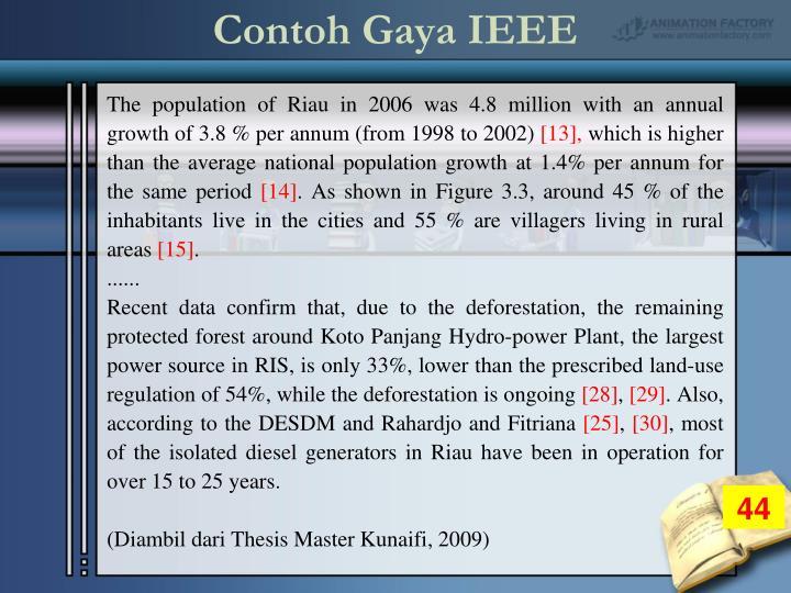 Contoh Gaya IEEE