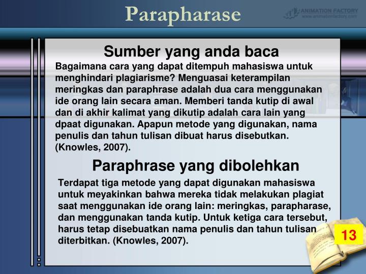 Parapharase