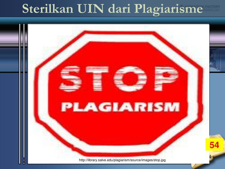 Sterilkan UIN dari Plagiarisme