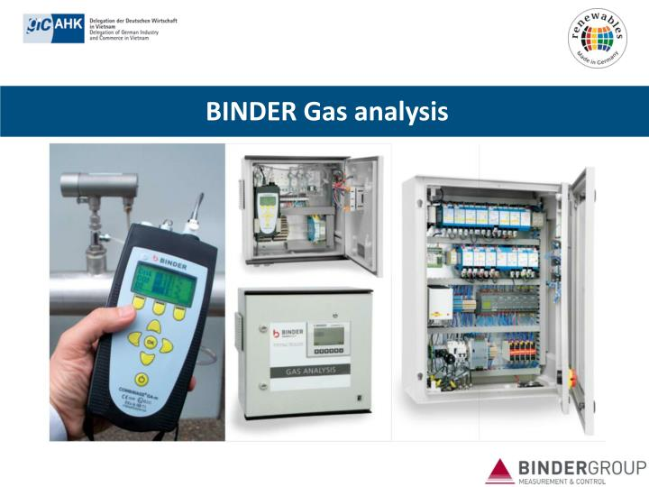 BINDER Gas analysis