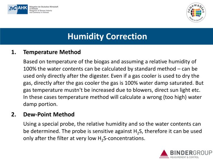 Humidity Correction