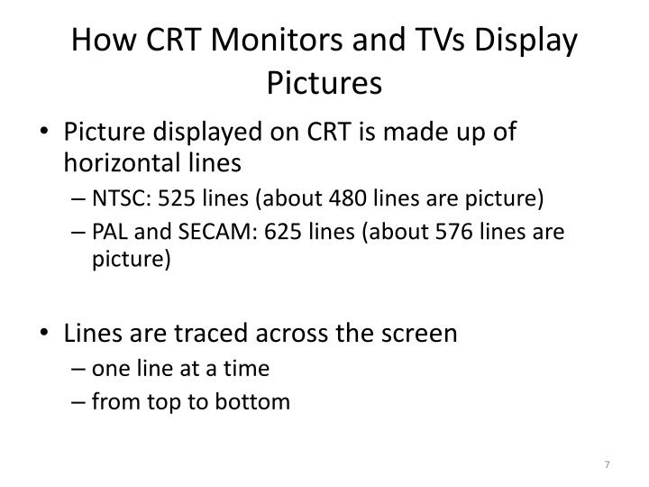 How CRT Monitors and TVs Display Pictures