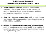 differences between domestic and international ihrm