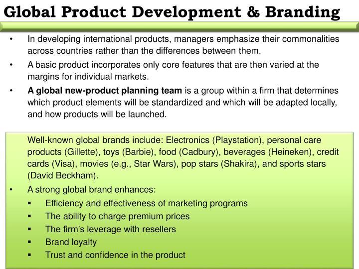 Global Product Development & Branding