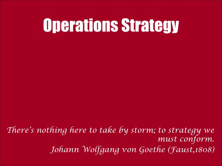 operations strategy for zara