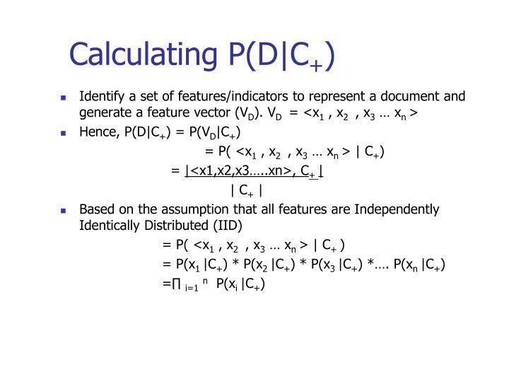 Calculating P(D|C