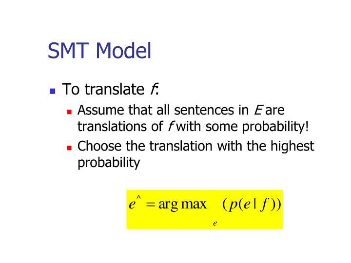SMT Model