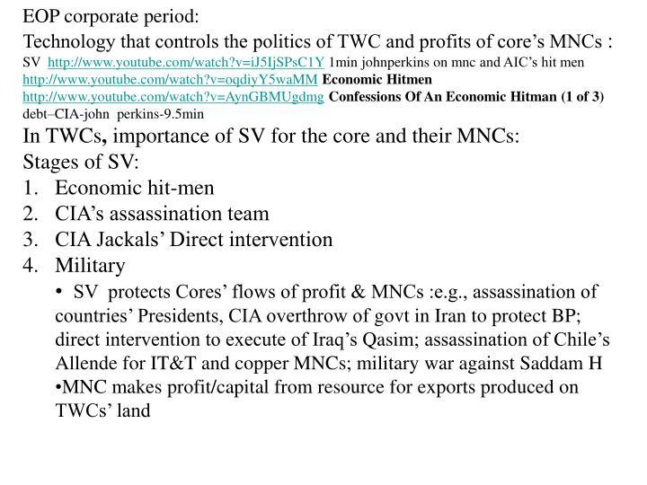 EOP corporate period: