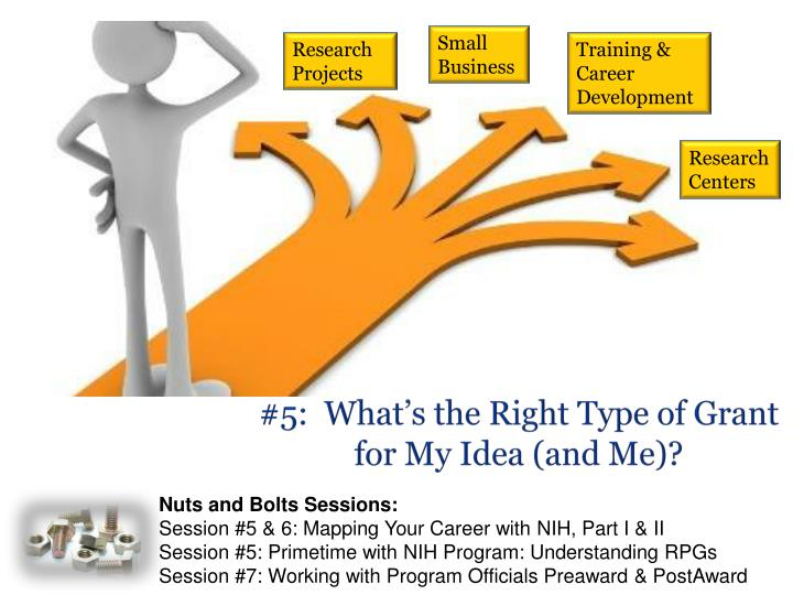 #5:  What's the Right Type of Grant for My Idea (and Me)?
