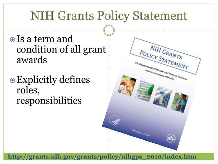 http://grants.nih.gov/grants/policy/nihgps_2010/index.htm