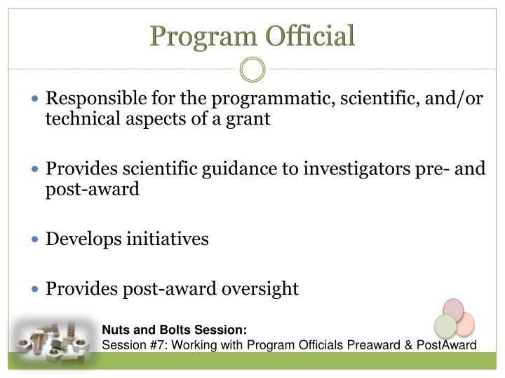 Program Official
