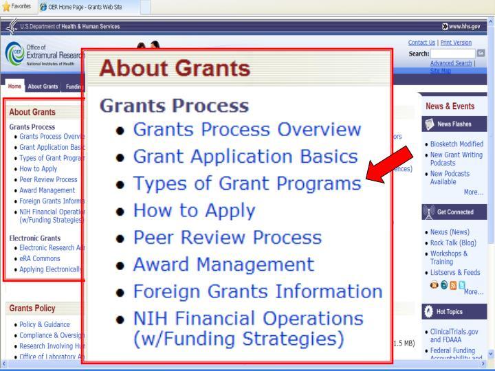 Find Grants Info at: http://www.grants.nih.gov/