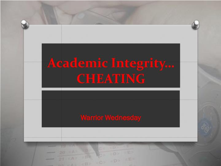 Academic integrity cheating