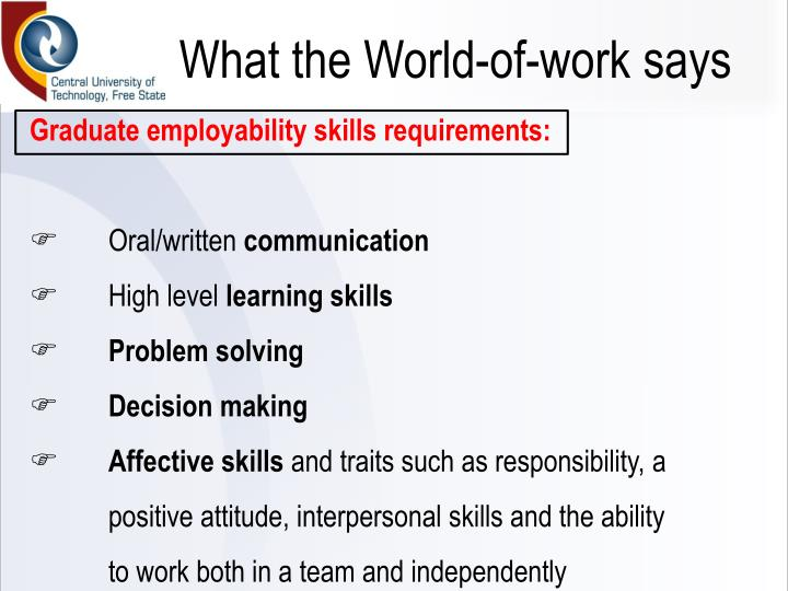 What the World-of-work says