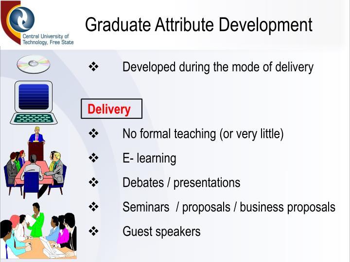 Graduate Attribute Development