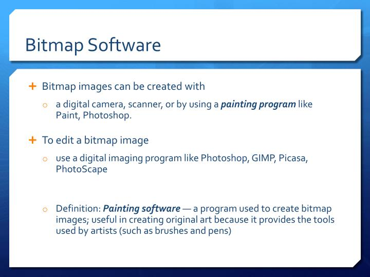 Bitmap Software