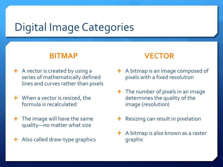 Digital Image Categories