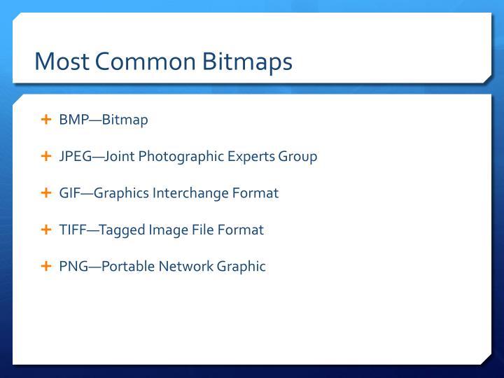 Most Common Bitmaps