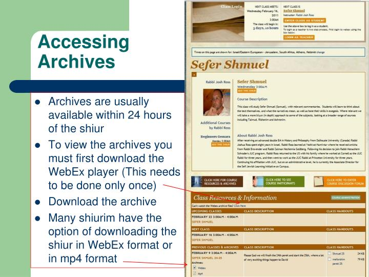 Accessing Archives