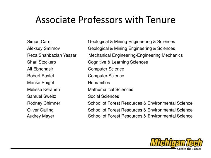 Associate Professors with Tenure
