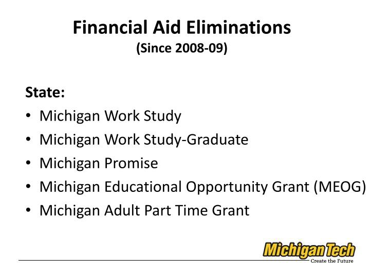 Financial Aid Eliminations