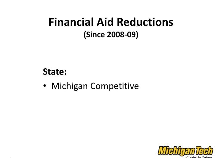 Financial Aid Reductions