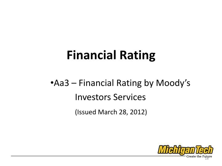 Financial Rating