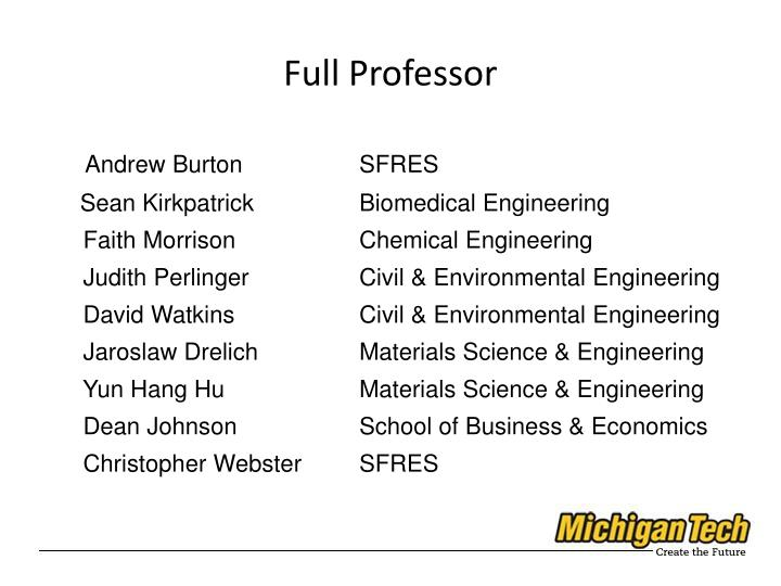 Full Professor