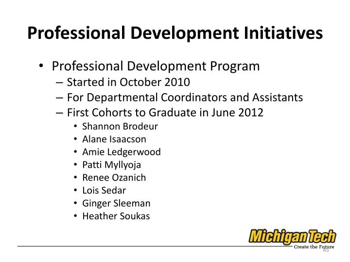Professional Development Initiatives