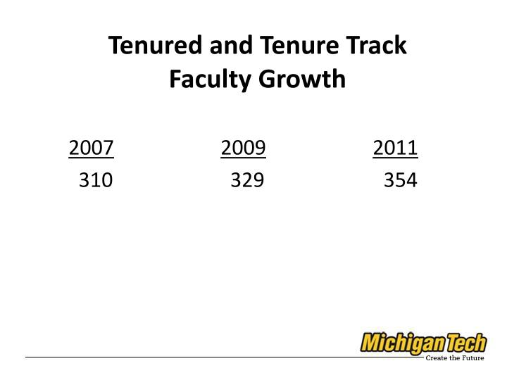 Tenured and Tenure Track