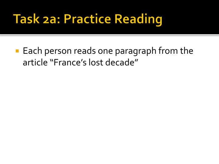 Task 2a: Practice Reading