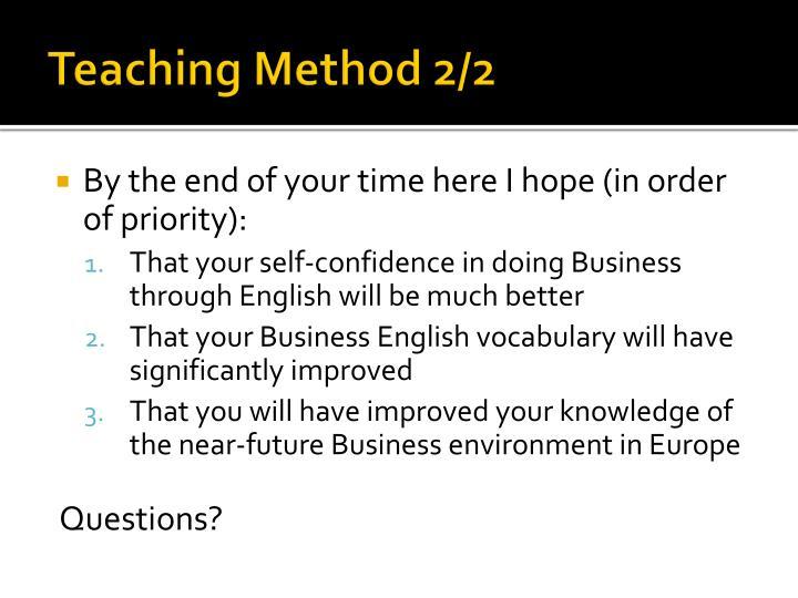 Teaching Method 2/2