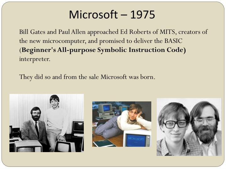 Microsoft – 1975
