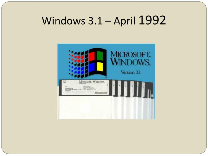Windows 3.1 – April