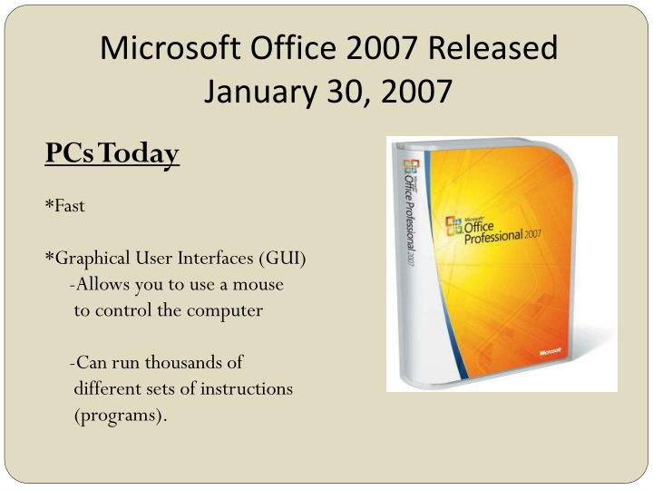 Microsoft Office 2007 Released