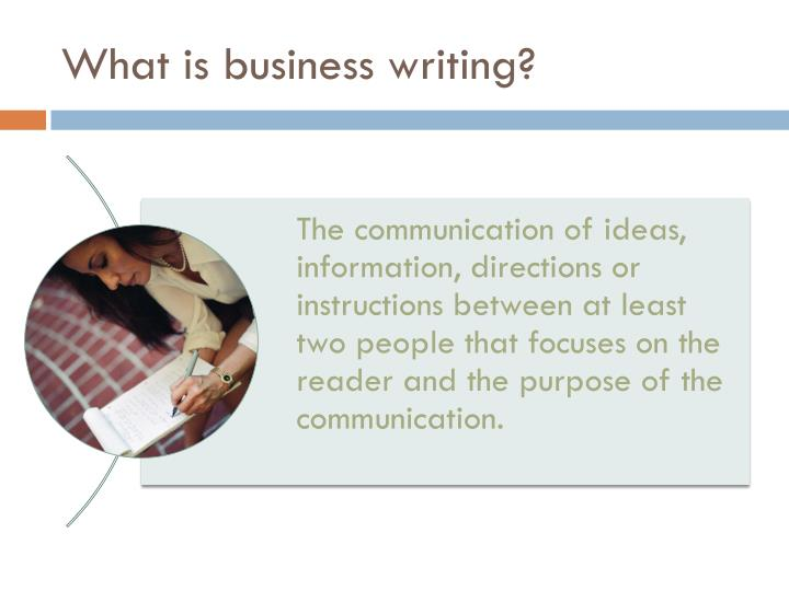 Why business writing skills are important