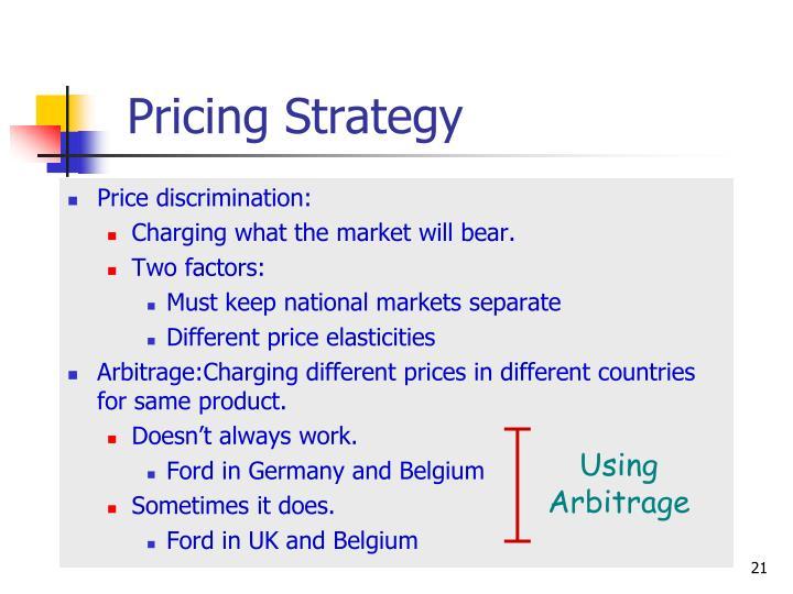 Using Arbitrage