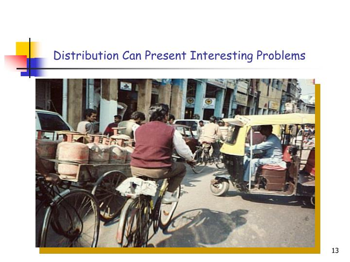 Distribution Can Present Interesting Problems