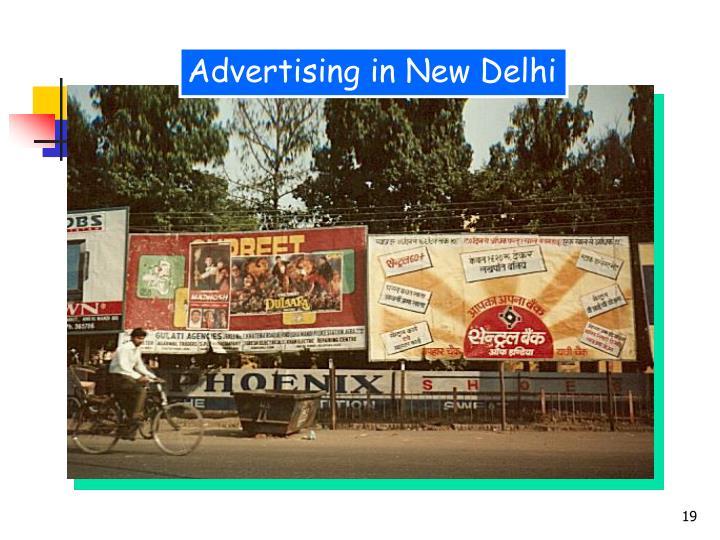 Advertising in New Delhi
