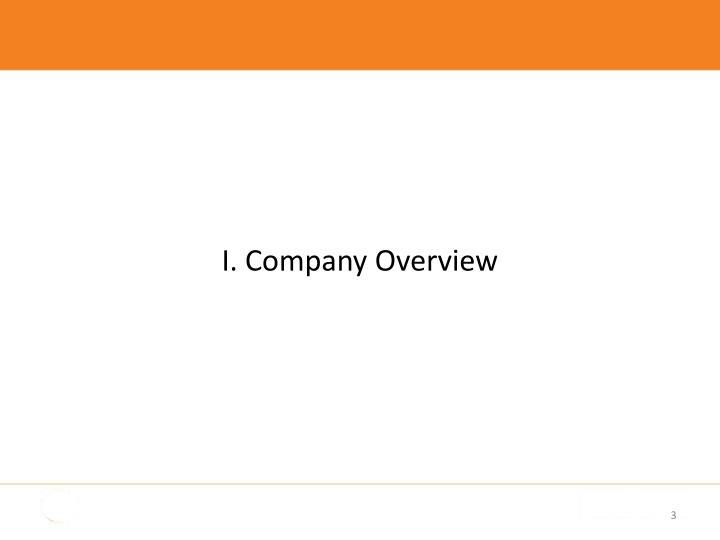 I. Company Overview