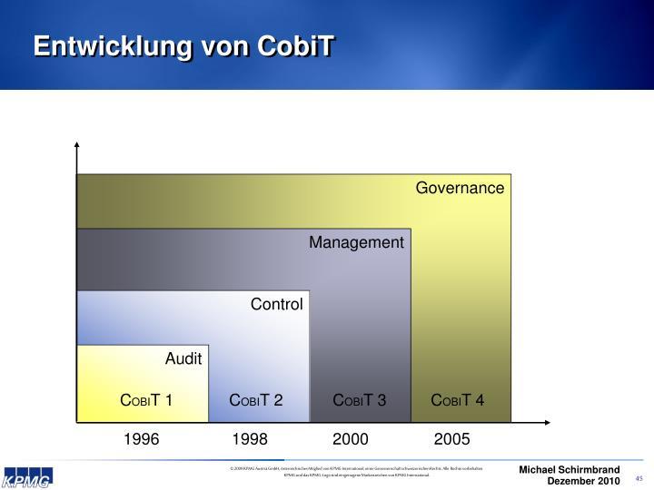 Entwicklung von CobiT
