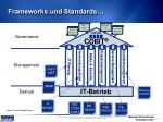 frameworks und standards