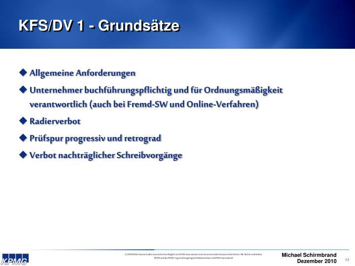 KFS/DV 1 - Grundsätze